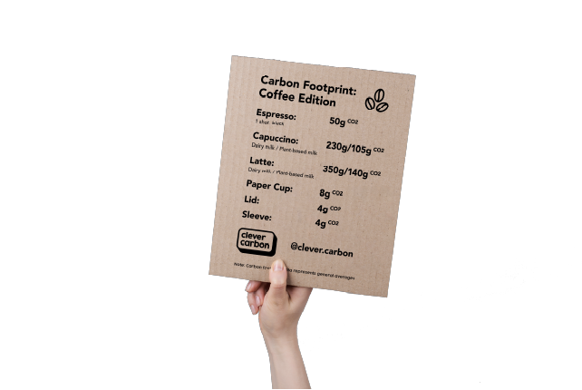 Clever Carbon Menu for Coffee