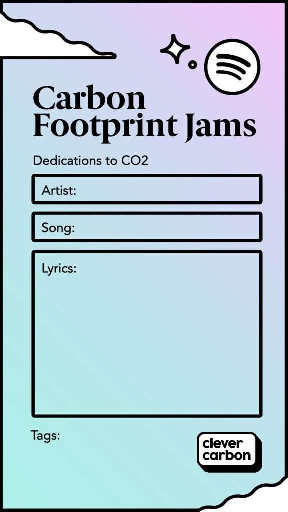 Carbon Footprint Jam Instagram Template